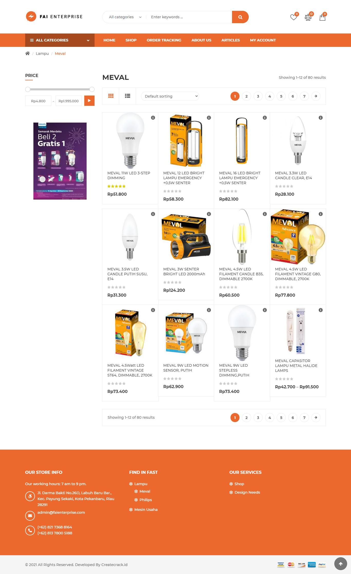 product page fai enterprise